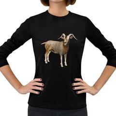 Goat 2 Womens' Long Sleeve T-shirt (Dark Colored)