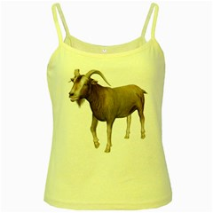 Goat 3 Yellow Spaghetti Tank