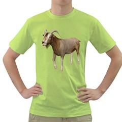 Goat 3 Mens  T Shirt (green)