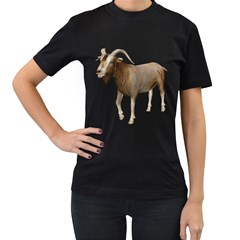 Goat 3 Womens' Two Sided T-shirt (Black)