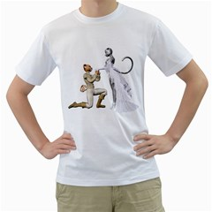 Wedding Couple 1 Mens  T Shirt (white)