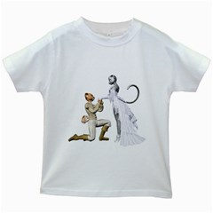 Wedding Couple 1 Kids' T-shirt (White)