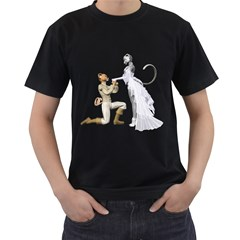 Wedding Couple 1 Mens' Two Sided T Shirt (black)