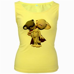 Vampire 1 Womens  Tank Top (Yellow)