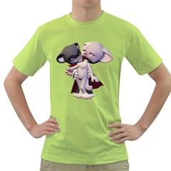 Vampire 1 Mens  T-shirt (Green)