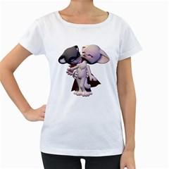 Vampire 1 Womens' Maternity T Shirt (white)