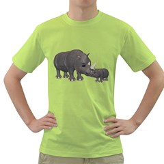 Rhino 1 Mens  T-shirt (Green)