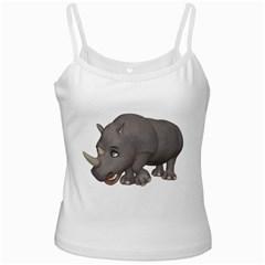 Rhino 2 White Spaghetti Tank