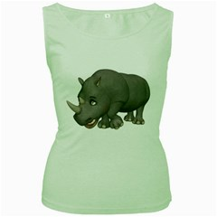 Rhino 2 Womens  Tank Top (green)