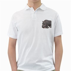 Rhino 2 Mens  Polo Shirt (white)
