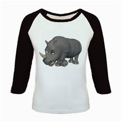 Rhino 2 Women s Long Cap Sleeve T Shirt