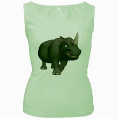 Rhino 3 Womens  Tank Top (Green)