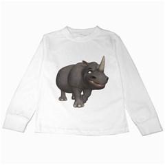 Rhino 3 Kids Long Sleeve T Shirt