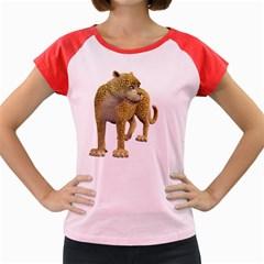 Leopard 1 Women s Cap Sleeve T Shirt (colored)
