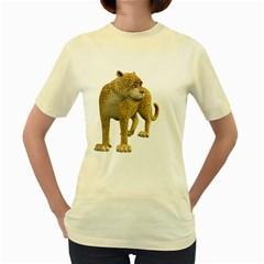 Leopard 1  Womens  T Shirt (yellow)