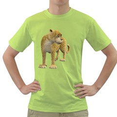 Leopard 1 Mens  T Shirt (green)