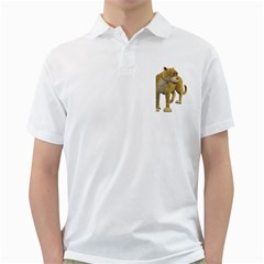 Leopard 1 Mens  Polo Shirt (white)