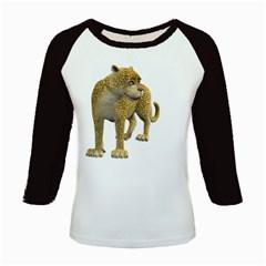 Leopard 1 Women s Long Cap Sleeve T-Shirt