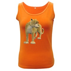 Leopard 1 Womens  Tank Top (Dark Colored)