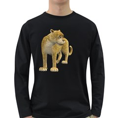 Leopard 1 Mens' Long Sleeve T-shirt (Dark Colored)