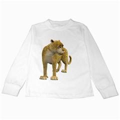 Leopard 1 Kids Long Sleeve T-Shirt