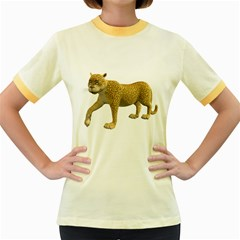 Leopard 2 Womens  Ringer T Shirt (colored)