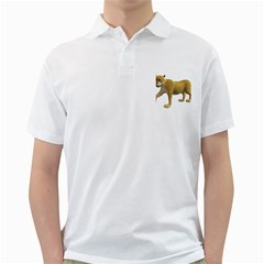 Leopard 2 Mens  Polo Shirt (white)