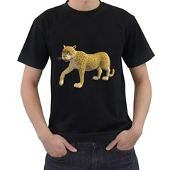 Leopard 2 Mens' Two Sided T-shirt (Black)