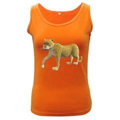 Leopard 2 Womens  Tank Top (Dark Colored)