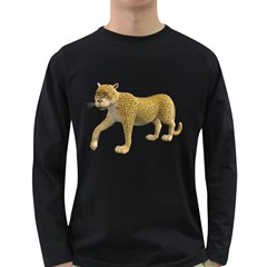 Leopard 2 Mens' Long Sleeve T-shirt (Dark Colored)
