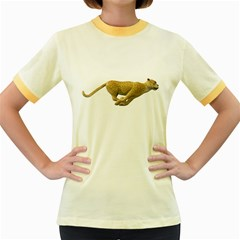 Leopard 3 Womens  Ringer T Shirt (colored)