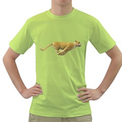 Leopard 3 Mens  T-shirt (Green)