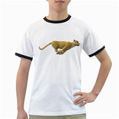 Leopard 3 Mens' Ringer T Shirt