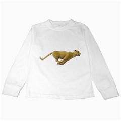 Leopard 3 Kids Long Sleeve T Shirt