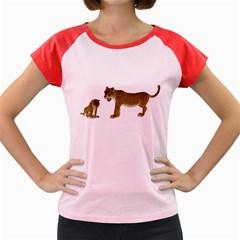 Leopard 4 Women s Cap Sleeve T Shirt (colored)
