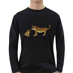 Leopard 4 Mens' Long Sleeve T-shirt (Dark Colored)