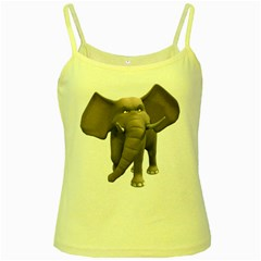 Elephant 1 Yellow Spaghetti Tank