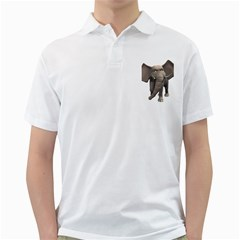 Elephant 1 Mens  Polo Shirt (white)