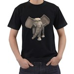 Elephant 1 Mens' Two Sided T-shirt (Black) Front