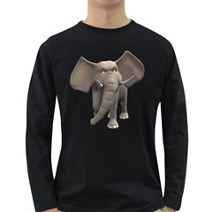 Elephant 1 Mens' Long Sleeve T-shirt (Dark Colored)