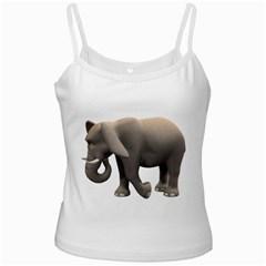 Elephant 2 White Spaghetti Tank