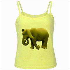 Elephant 2 Yellow Spaghetti Tank