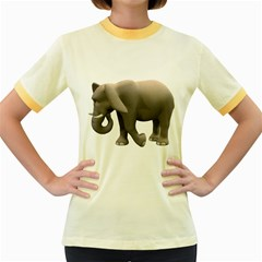 Elephant 2 Womens  Ringer T-shirt (Colored)