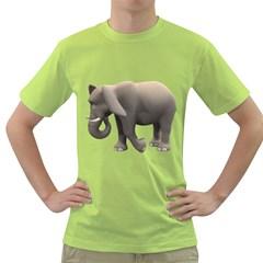 Elephant 2 Mens  T-shirt (Green)