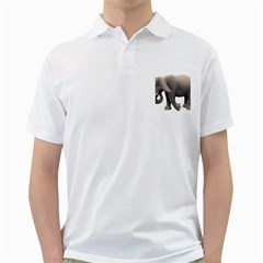 Elephant 2 Mens  Polo Shirt (white)