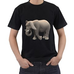 Elephant 2 Mens' Two Sided T-shirt (Black)