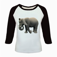 Elephant 2 Women s Long Cap Sleeve T Shirt