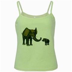 Elephant 3 Green Spaghetti Tank