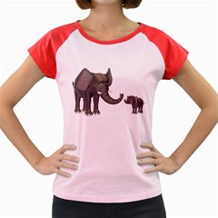 Elephant 3 Women s Cap Sleeve T-Shirt (Colored)
