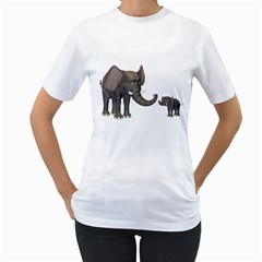 Elephant 3 Womens  T-shirt (White)